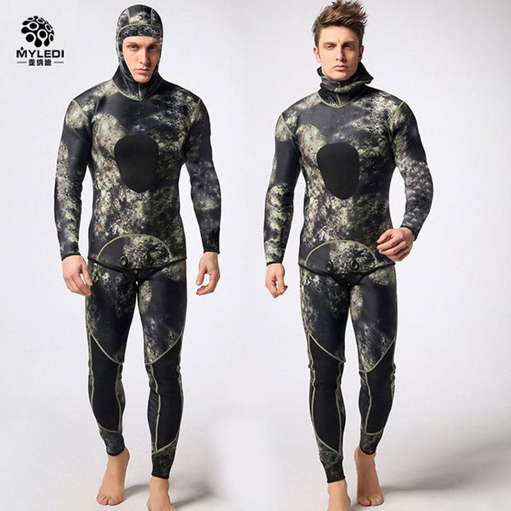 Cheap spearfishing wetsuit, Buy Quality surf wetsuit directly from China suit neoprene Suppliers: Diving suit neoprene 3mm men pesca diving spearfishing wetsuit surf snorkel swimsuit Split Suits combinaison surf wetsuit DHL3-7