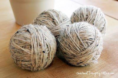 Ahorra energía, dinero y tiempo. Haz tus propias bolas de lana secadoras para la ropa.