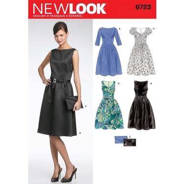 New Look 6723 Women's Dress  8 - 18