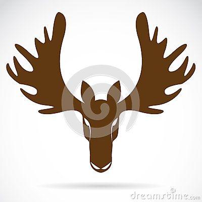Vector image of an deer head by Yodke67, via Dreamstime ...
