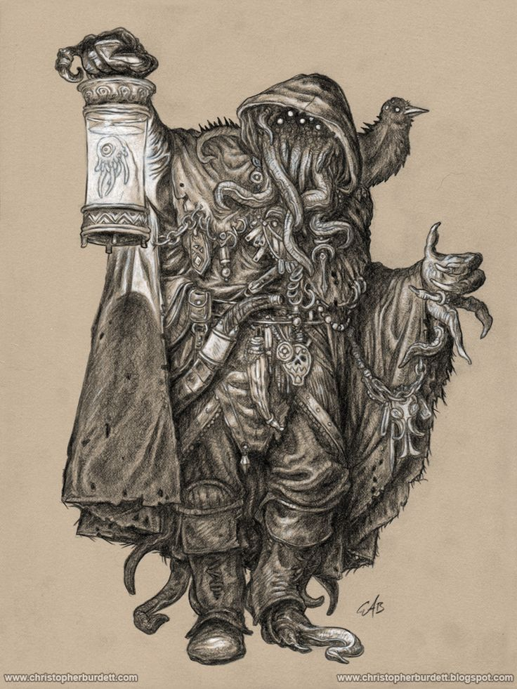 "creaturesfromdreams: ""Gray Wanderer by christopherburdett —-x—- More:   Cthulhu   Random  CfD Amazon.com Store  """