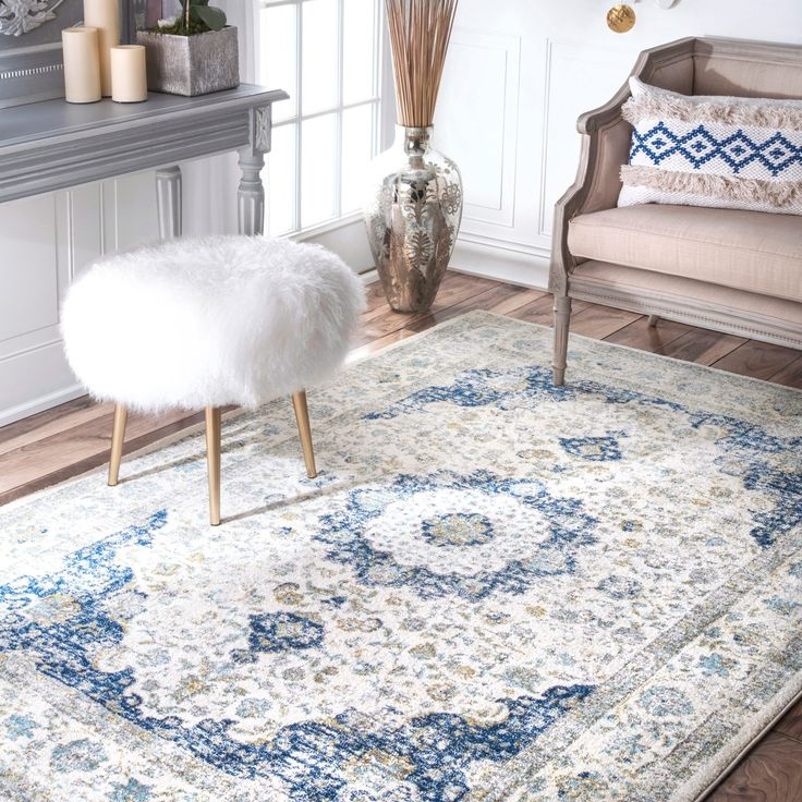 NuLOOM Traditional Persian Fancy Rug X (Blue), Size X (Polypropylene,  Abstract) Part 71