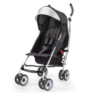 "Summer Infant 3D Lite (~$99): 12 lbs., anti-shock front wheels, 4 reclining positions, the ""fully-loaded"" umbrella stroller. Read more here: http://www.lucieslist.com/gear-guides/best-umbrella-strollers/#3D"