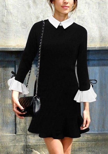 Black Vintage-Inspired Mini Dress, very Alexa Chung.