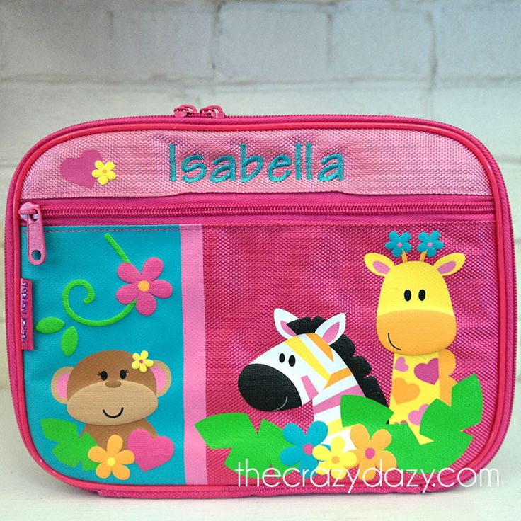 Send her off to school with a #lunchbox that will make her smile! She will love to show it off with her name stitched right onto the lunch bag! http://www.thecrazydazy.com/Girl-Zoo-Stephen-Joseph-Personalized-Lunch-Box-p/1177.htm#utm_sguid=167017,28f257f2-51c3-6c06-c615-6a40a5cdbb5c