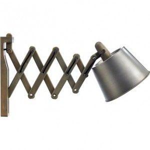 Wandlamp industrieel hout met metaal