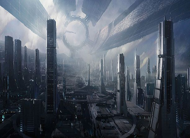 Apocalypse City In Fog. Aerial View Of The Destroyed City ... |Future Destroyed City