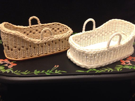 Handmade Wicker Moses Basket : Images about miniature nurseries and babies on