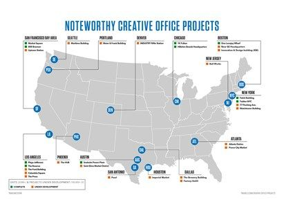Noteworthy Creative Office Exits Map