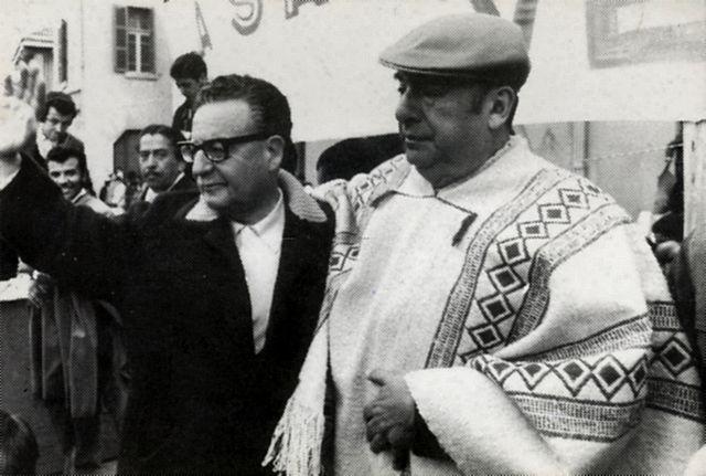 Salvador Allende and Pablo Neruda