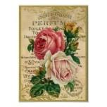 Het antiek Parfum van Rozen Print