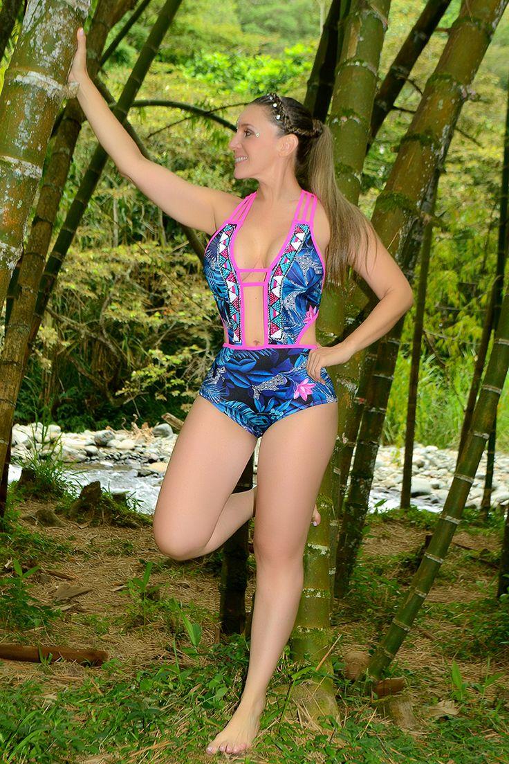 TULIPAN 7 Vestido de baño 1 piezas trikini en panty, brasilera 165.000