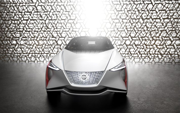 Download wallpapers Nissan IMx, zero-emission concept, 2018, 4k, front view, electric car, crossover, Japanese cars, Nissan