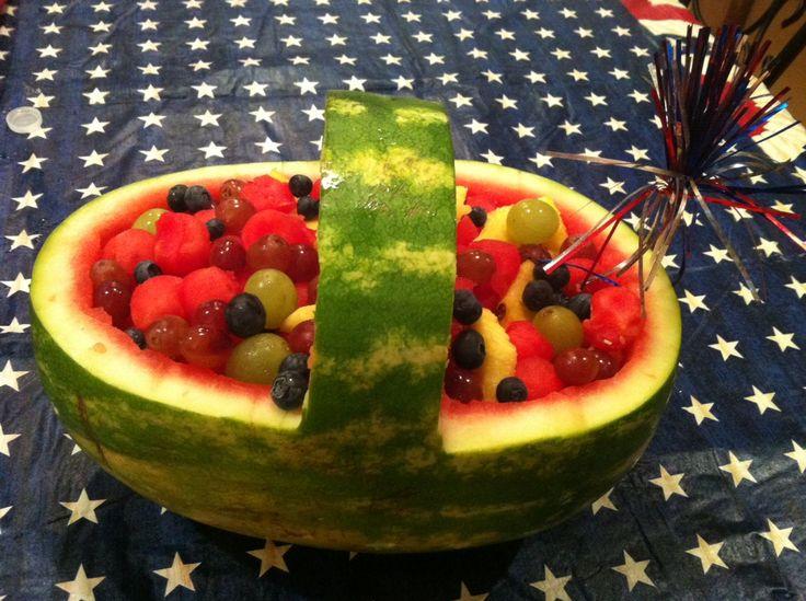 Party fruit salad basket!