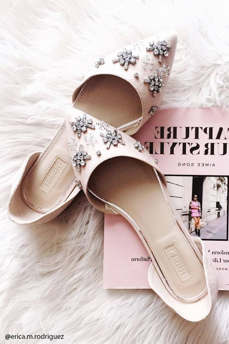 Rhinestoned Faux Suede Flats