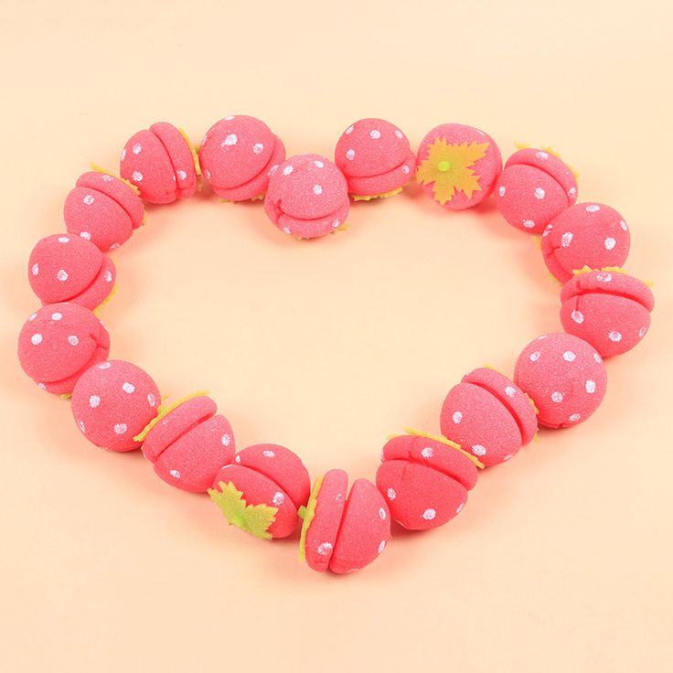 5 PCS Strawberry Balls Hair Care Soft Sponge Curlers DIY Personal Fashion Hair Styling Curlers Tools