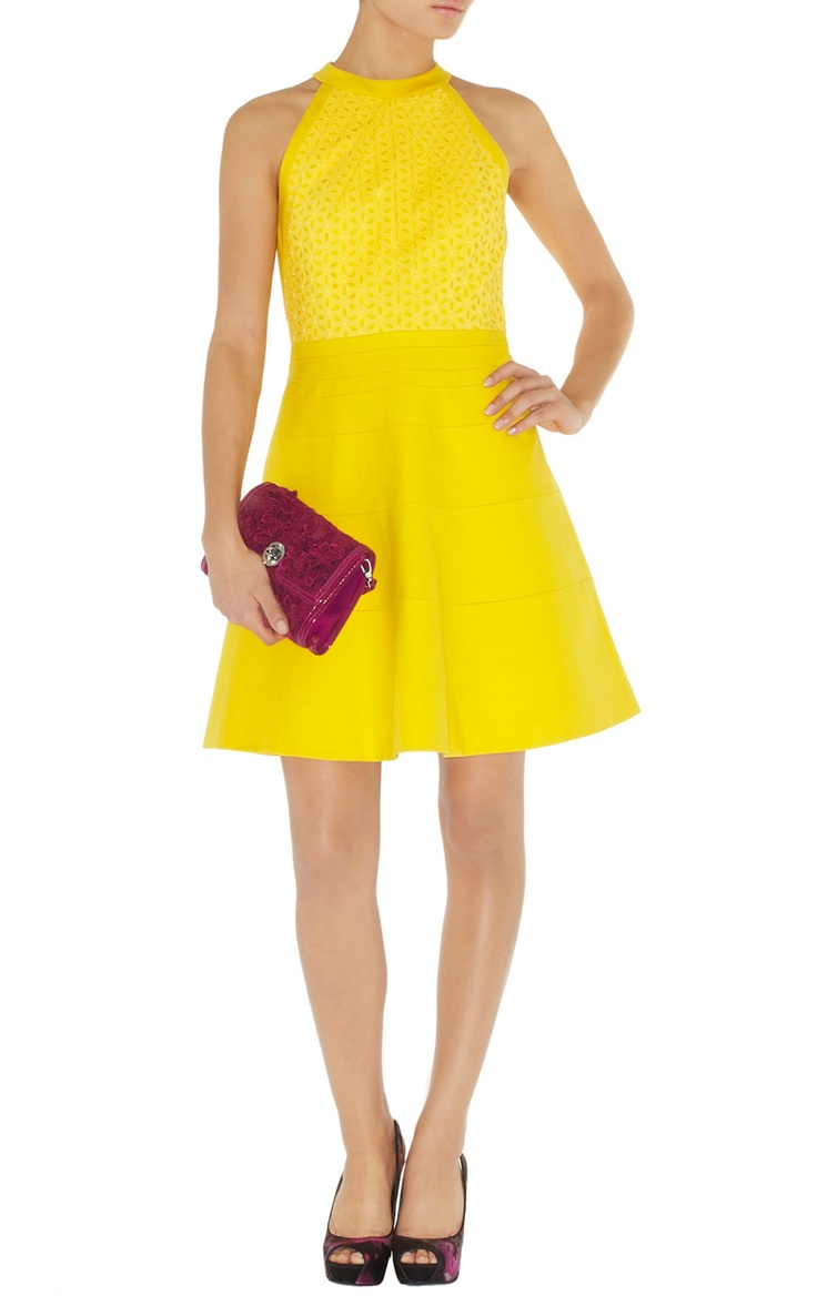 yellow dress maxi nedeljna