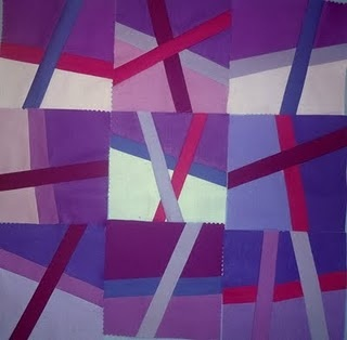 .: Pieced Quilts, Color, Mini Quilts, Gorgeous Quilts, Quilt Blocks Patterns, Amazing Quilts, Purple Quilts, Strip Quilts, Modern Quilts