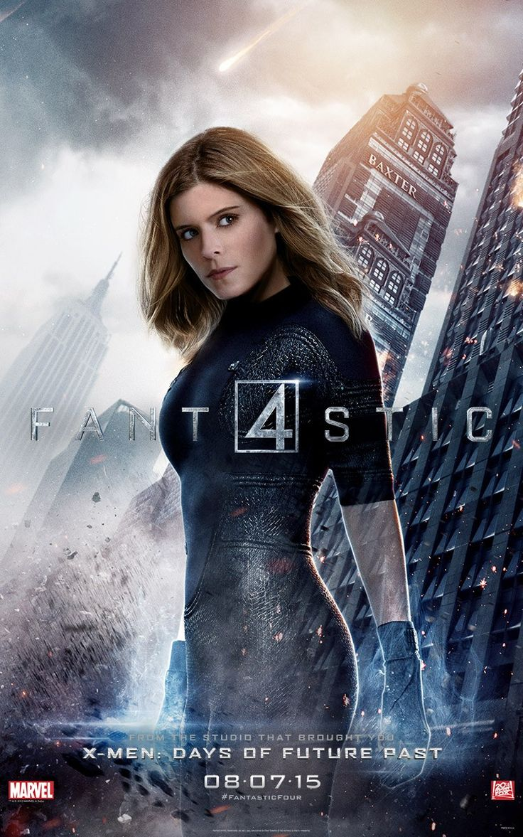 The Fantastic Four - I cannot wait! Besides Spider-Man, Invisible Woman is my favorite Marvel character.