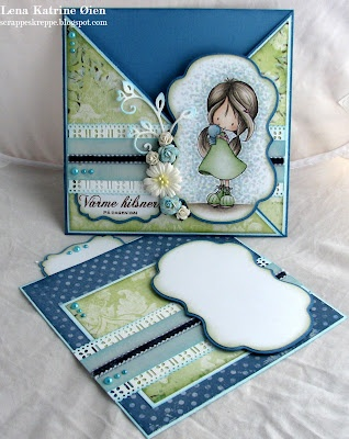 How cute is this criss cross card?  Wrenn image, card from Wild Orchid Crafts blog
