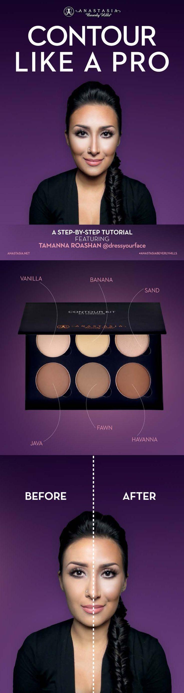 Anastasia Beverly Hills Contour Kit Medium to Tan 6 pans x 0.11 oz