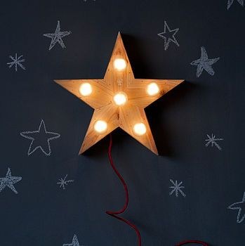 mini lena star lamp by sisters guild | notonthehighstreet.com