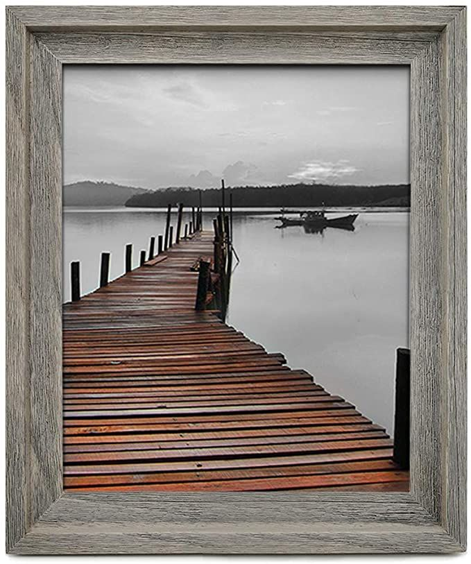 Amazon Com Eosglac Rustic 11x14 Picture Frame Wooden Frames Wall Mounting Display Weathered Gr 11x14 Picture Frame Rustic Picture Frames Custom Picture Frame 11 x 14 picture frames