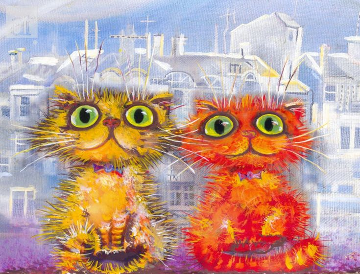 Позитивные коты картинка