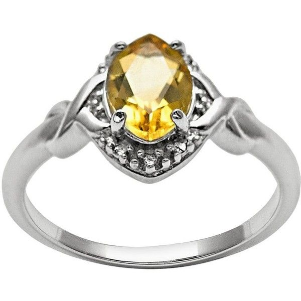 Sterling Silver Citrine and Diamond Accent Marquise Halo Ring ($100) ❤ liked on Polyvore featuring jewelry, rings, orange, diamond accent ring, sterling silver jewellery, orange ring, sterling silver citrine ring and sterling silver criss cross ring