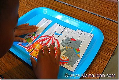 preschool circus theme | ... putting together the Circus Math Puzzle from Homeschool Creations