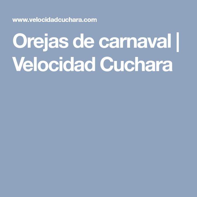 Orejas de carnaval | Velocidad Cuchara