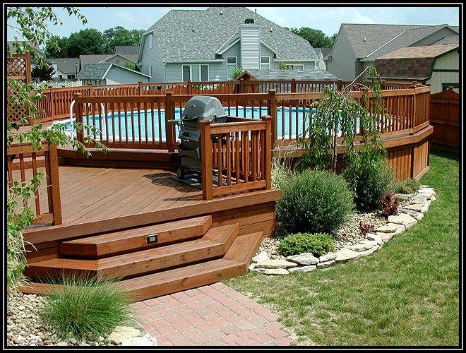 Prefab Above Ground Pool Decks | Above Ground Pool Decks Pictures - Home Exterior : Home Design Ideas # ...