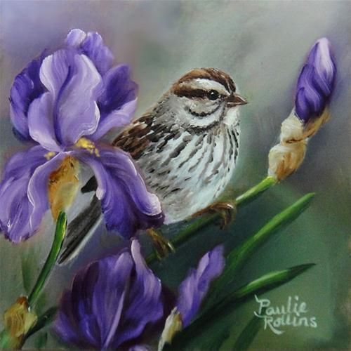 """Pretty in Purple"" - Original Fine Art for Sale - © Paulie Rollins"