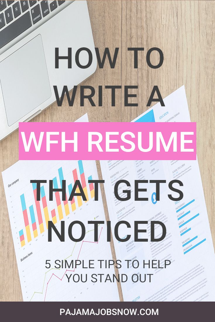 How to write a work from home resume before applying