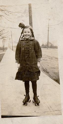 found roller skating girl by profkaren, via Flickr