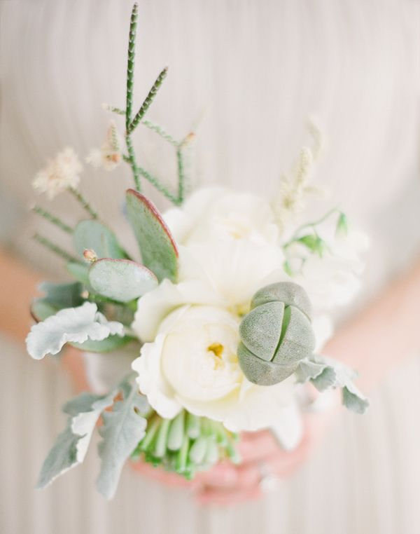 Garden Rose and Succulent Bouquets