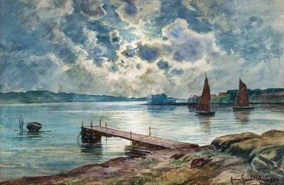 Watercolors by Anna Gardell-Ericson (1853-1939) Swedish Artist