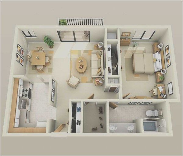 14 Lovable Small Design One Bedroom Apartments Images In 2020 Apartment Floor Plans 1 Bedroom House Plans One Bedroom Apartment