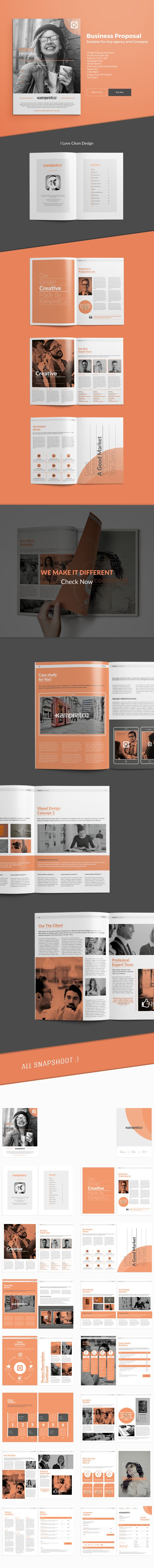 A4 Agency Proposal Brand Brief Brochure Design Business
