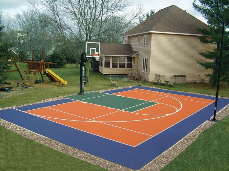 11 best backyard basketball images on pinterest backyard for Home outdoor basketball court cost