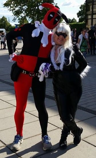 From NärCon Summer in Sweden 2015 Me and a Jester Deadpool!