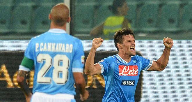 Christian Maggio celebrates his goal