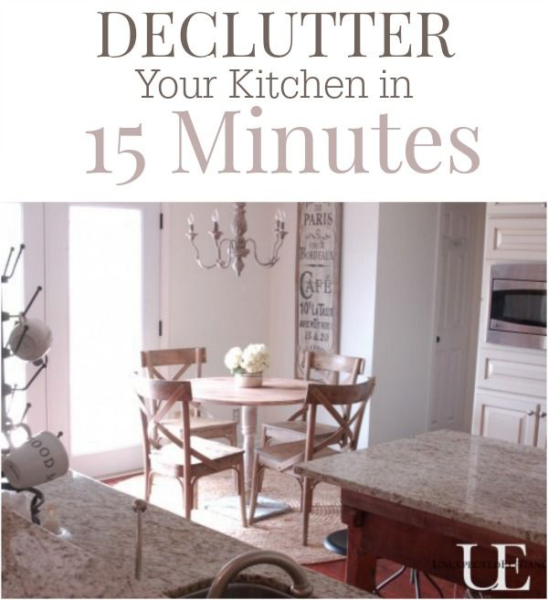 Kitchens are the hub of most homes and take the most abuse! I have found a way to make KEEPING it clean less of a struggle! Declutter your kitchen is JUST 15 MINUTES with a few easy steps!