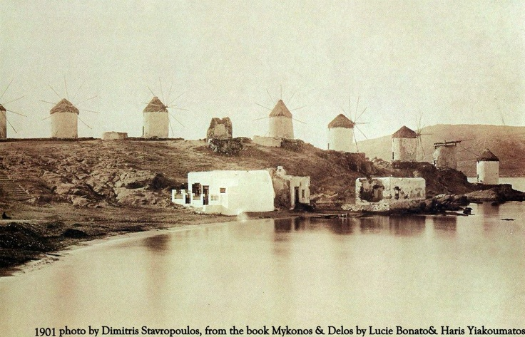The windmills of Myconos in 1901