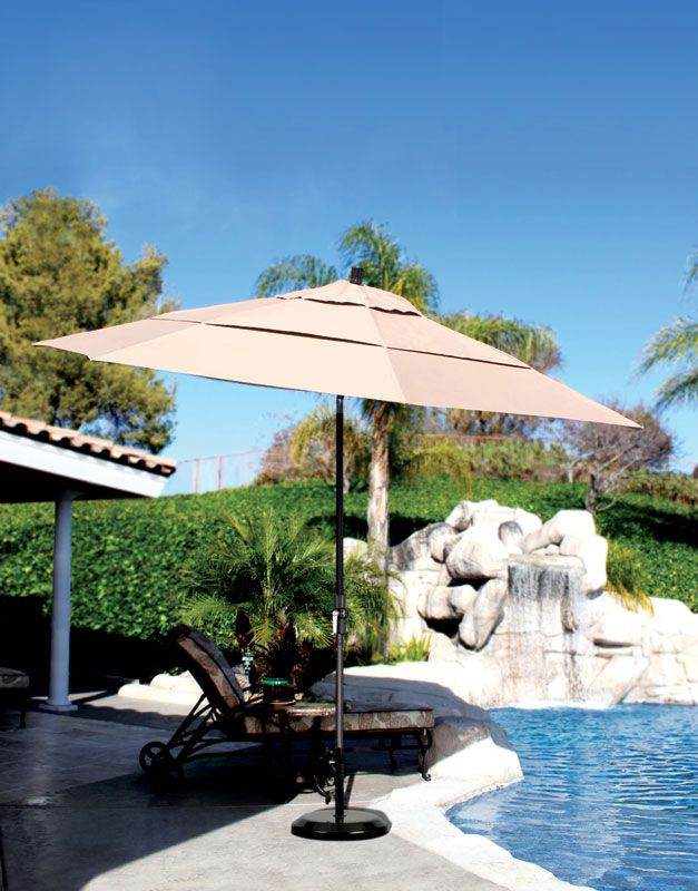 Perfect Poolside, This 11 Foot #canopy By California Umbrella Has A Collar  Tilt