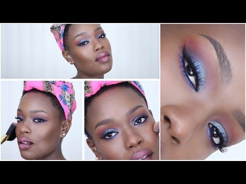 Blue/Emerald Smoky Eye - YouTube
