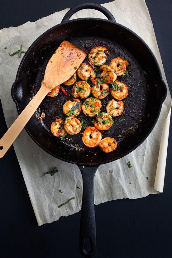 Gebakken knoflook & kruiden Garnalen | Sauteed Garlic & Herbs Prawns #recept