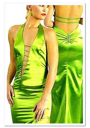 Prom dress green tree