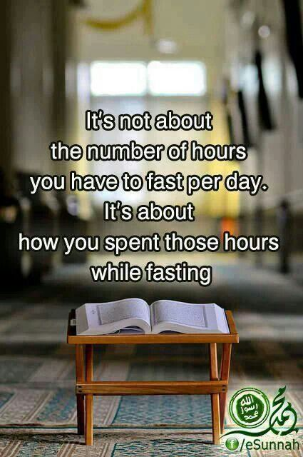 Es geht nicht um die Anzahl der Stunden, sondern darum wie wir die Fastenzeit nutzen.