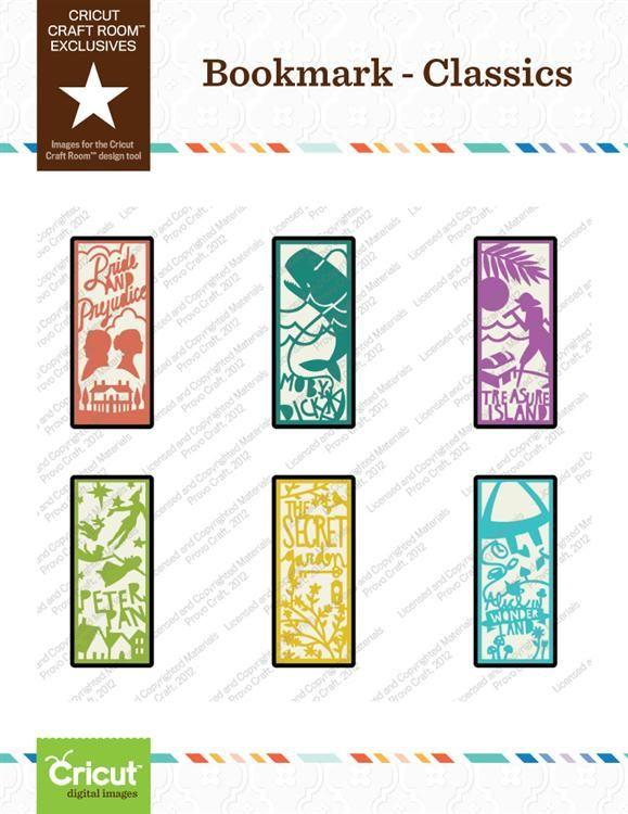 Cricut Craft Room™ Exclusives, Bookmark U2013 Classics Part 34